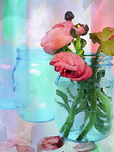 Imagekind Wall Art  Mason Jar Flowers by Irena Orlov