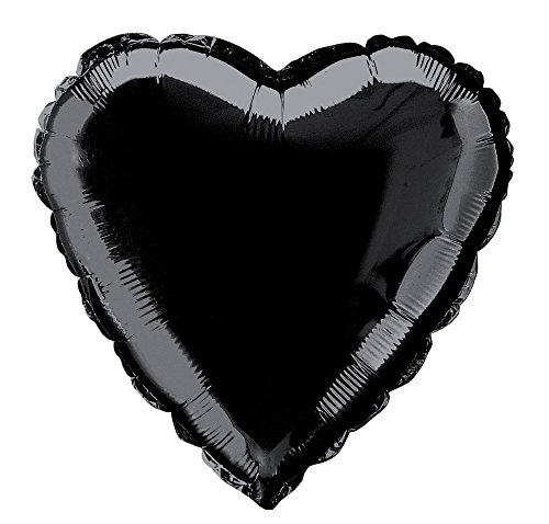 18'' Foil Black Heart Balloon
