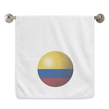 DIYthinker Colombia Fútbol Nacional Fútbol de Bandera Blanca Circlet Toallas Toalla Suave paño de 13X29 Pulgadas 13 x 29 Pulgadas Blanco: Amazon.es: Hogar