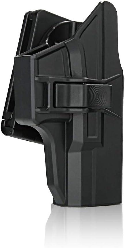 efluky Holster Pistola Molle Pistolera Airsoft Gun Holster para Glock 19 23 32(Gen1-5), Glock 19X, Glock 45
