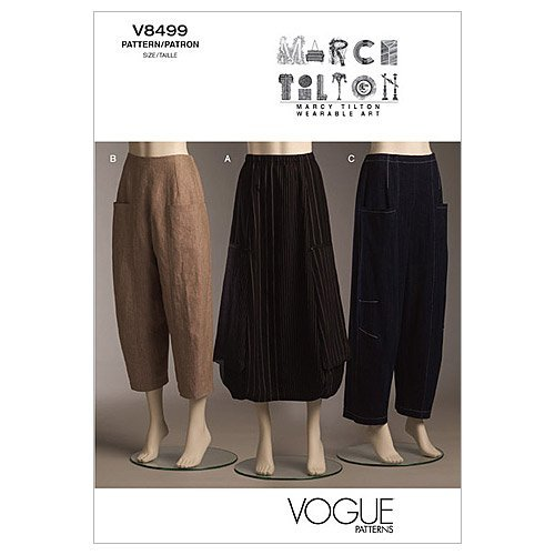 Vogue Patterns V8499 Misses' Skirt and Pants, Size AA (6-8-10-12) from Vogue Patterns