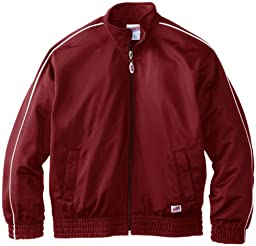 Soffe Big Boys\' Warm Up Jacket, Maroon, Large