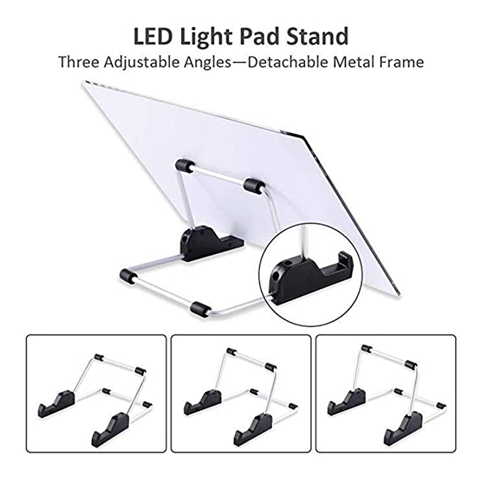 DIY LED Light Board Dimmable Light Stand Clips Mesh Bag Painting Tools