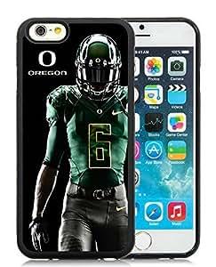 Customized NCAA Oregon Ducks iPhone 6 4.7 Inch TPU Case in Black