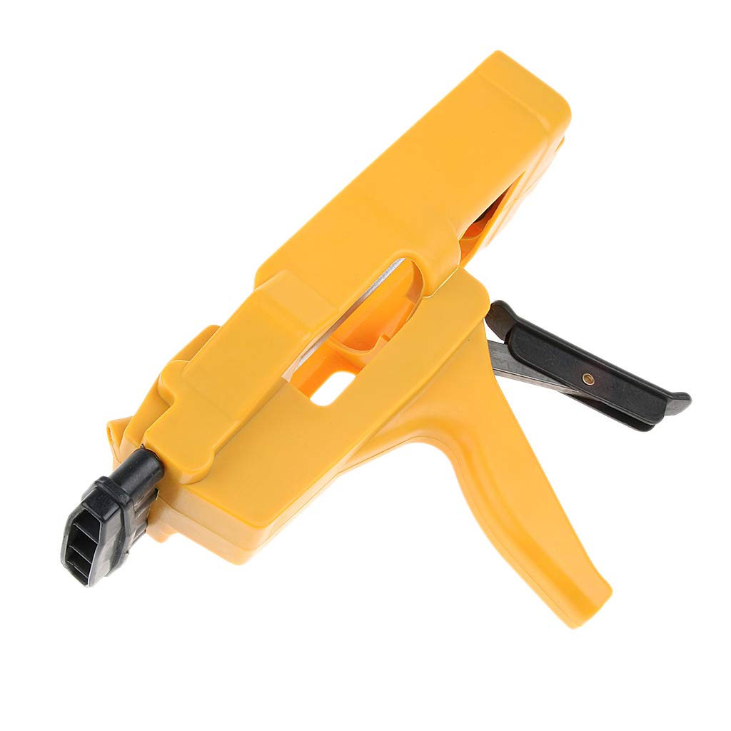 Prettyia Professional Dual Component Smooth Rod Caulk Dispenser 400ml Cartridge ABS & Steel