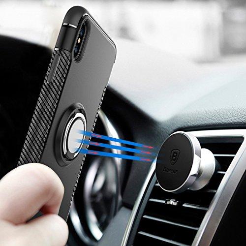 Protege tu iPhone, Para iPhone X Magnetic 360 Degree Rotation Ring Armor Funda protectora Para el teléfono celular de Iphone. ( Talla : Ip8g5150s )