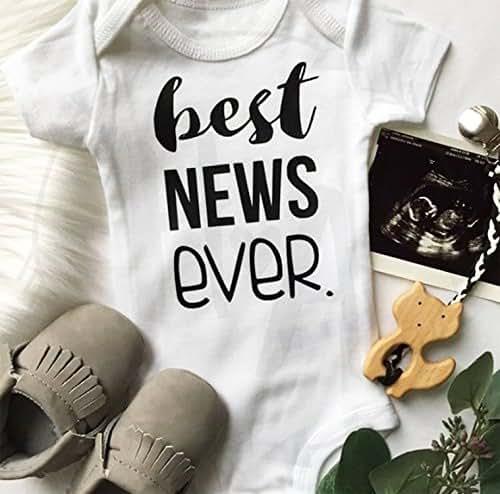 Amazon baby announcement best news ever onesie custom baby baby announcement best news ever onesie custom baby shower gift baby registry monogram negle Gallery