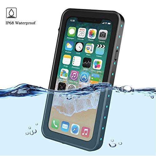 - iPhone Xs Waterproof Case,Mangix Underwater Cover Full Body Protective Shockproof Snowproof Dirtproof IP68 Certified Waterproof Case for Apple iPhone Xs 5.8 inch (Black)