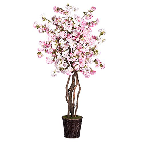 Vickerman TDX4860 Cherry Blossom Deluxe Tree, 6', Pink by Vickerman