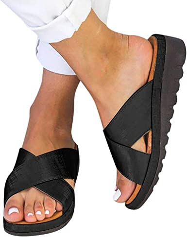 Womens Flip Flops Thong Sandals Comfy Wedge Heels Beach Casual Sport Sandal Shoe