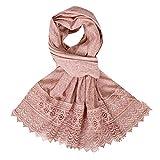 Cuekondy Women Muslim Hijab Scarves Head Wrap Scarf Solid Color Long Wrap Wrinkle Maxi Shawl Headwear
