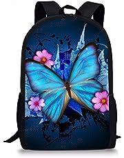 FUIBENG 3D Animal Print Kids Backpack Lightweight School Book Bags Insulated Shoulder Bags