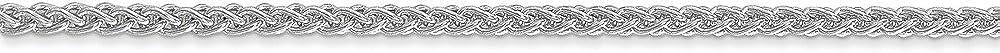 14K White Neckalce 2MM 20 INCH Long 14k White Gold 2.00mm Semi-solid Wheat Chain