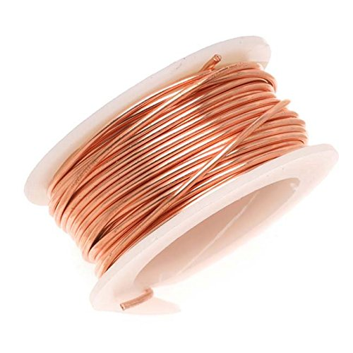 Artistic Wire 20-Gauge Bare Copper Wire, 6-Yards - AWD-20-BC-06YD