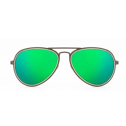 BVAGSS Vintage Aviator Stil Polarisierte Sonnenbrille UV400 Protection Herren Damen (Gun Color Frame With Green Lens) wQajU15