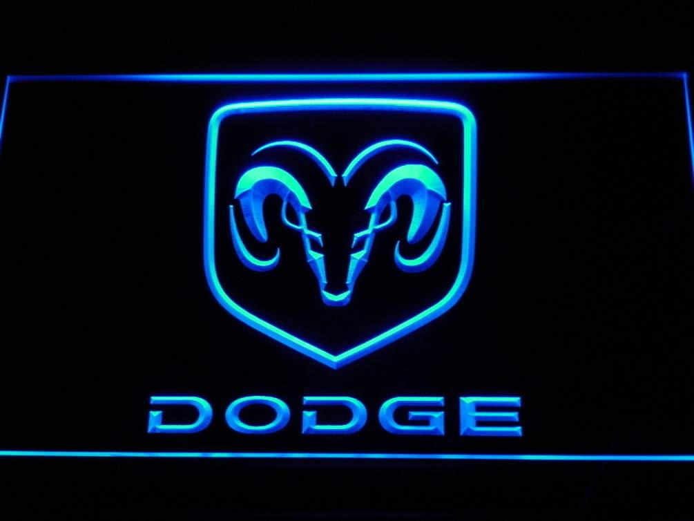 Dodge Truck Car LED Sign Light Blue