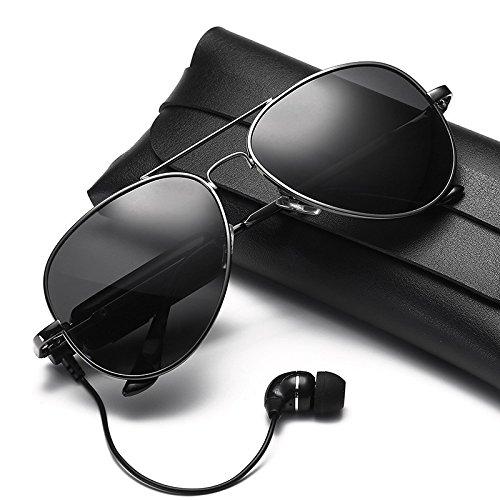 Bluetooth lunettes Lunettes de 6 Bluetooth Oreillette soleil polarisées intelligentes de lunettes soleil Shop lunettes Bluetooth Deux 4A0qx