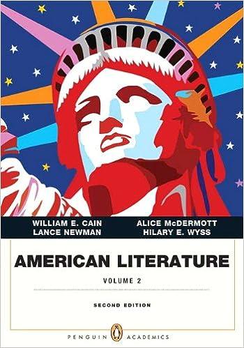 Amazon Com American Literature Volume Ii Penguin Academics Series 2nd Edition 9780321838636 Cain William E Mcdermott Alice Newman Lance E Wyss Hilary E Books