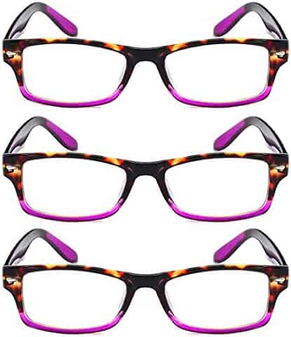479a5820a7 Fulision unisex 3 packs reading glasses men women fashion glassess