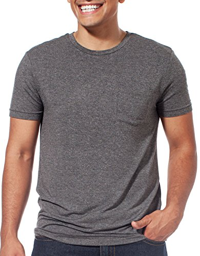 Leave Nothing But Footprints LNBF Jasper Pocket Tee Shirt Eco-friendly Viscose from Bamboo (M, Grey) Leave Nothing T-shirt