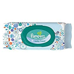 Pampers Baby Fresh Wipes Travel Pack 64 Count