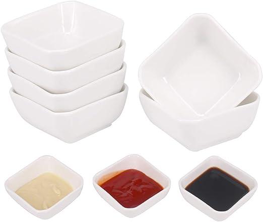 Plato de salsa de soja de cer/ámica Set de cuencos de inmersi/ón moldes de porcelana Cute Kit de para gatos Platos de aperitivos para servir mini condimento redondo