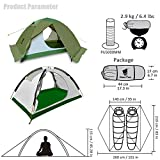 GEERTOP Camping Tent for 2 Person 4 Season