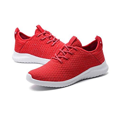 Ladies Deporte Primavera Zapatos Color Verano Boca Casuales Mujer de de Zapatillas Sneakers Top Shoes Rojo otoño Zapatos tamaño de Baja Mujer de Low 35 Singles Punto Deportivos qwgXYzn0xH