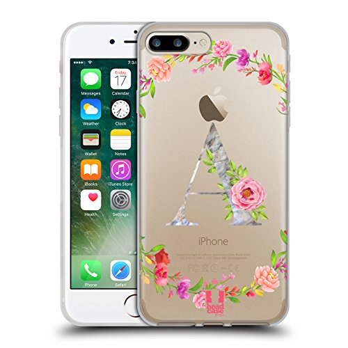 Head Case Designs Letter A Decorative Initials Soft Gel Case for iPhone 7 Plus/iPhone 8 Plus