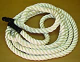 TDS White 3 Strand Polyester Exercise Rope 1.5'' X 30'