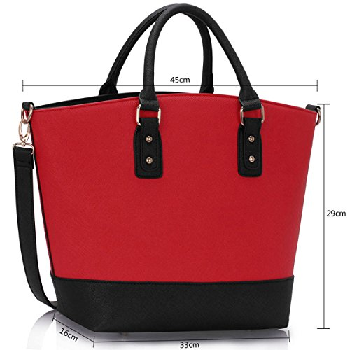 Xardi London, Borsa tote donna large Black/Red