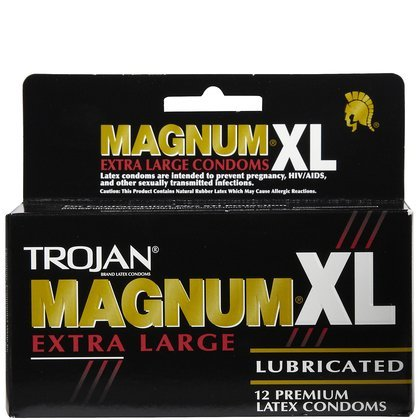 Trojan Magnum XL Lubricated Premium Latex Condoms 12 ct (Quantity of 3)