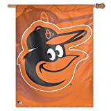 MLB Baltimore Orioles 28055013 Vertical Flag, Small, Black