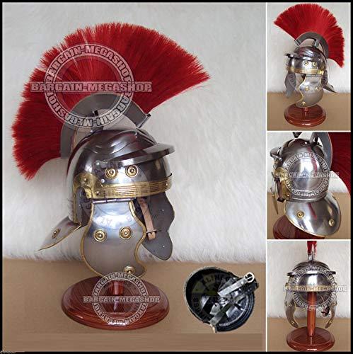UNIQUEWONDERITEMS PELASO Medieval Roman Centurion Helmet Greek Legionnaire