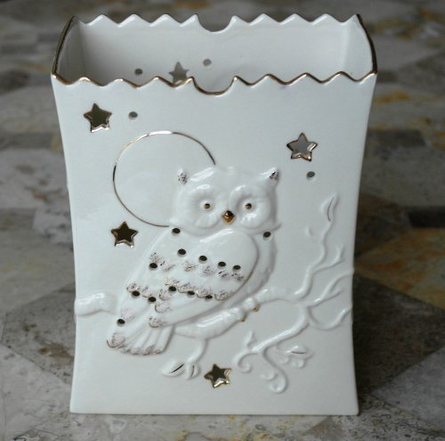 Lenox Halloween Spooky Night Luminary Tea Light Candle -