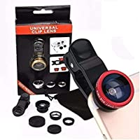 Kanish Sales Universal 3 in 1 Cell Phone Camera Lens Kit (Multicolour)