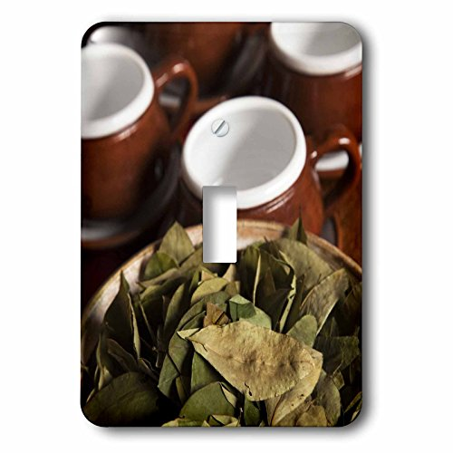 3dRose LLC lsp_86965_1 Peru, Cuzco Coca Leaves and Tea Cups Sa17 Bja0152 Jaynes Gallery Single Toggle Switch