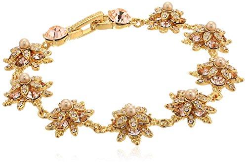 Marchesa Goldstone/Blush/Silk Crystal Star Bracelet, Gold, One Size ()