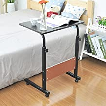 """Soges Adjustable Bed Table 23.6"""" Portable Laptop Computer Stand Desks Cart Tray, Black 05-1-60W-CA"""