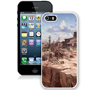 5S case,Call Of Juarez Goldmine Fan Art Mountain Houses White iPhone 5s cover