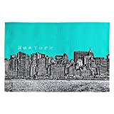 Cheap Deny Designs Bird Ave New York Aqua Woven Rug, 2 x 3