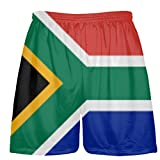 LightningWear South Africa Flag Shorts - Custom Sports Shorts Youth Large