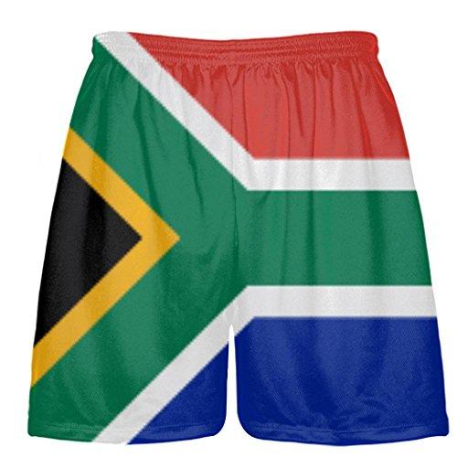 LightningWear South Africa Flag Shorts - Custom Sports Shorts Youth Large by LightningWear
