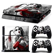 Ps4 Playstation 4 Console Skin Decal Sticker Harley Quinn + 2 Controller Skins Set