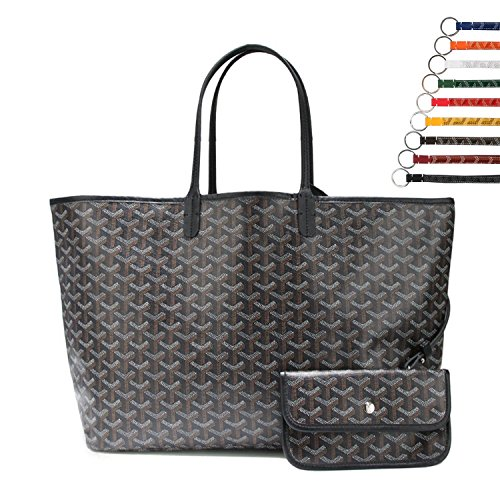 Stylesty Fashion Shopping PU Tote Bag, Designer Shoulder Handbags with Key Ring (Large, New Black) by Stylesty