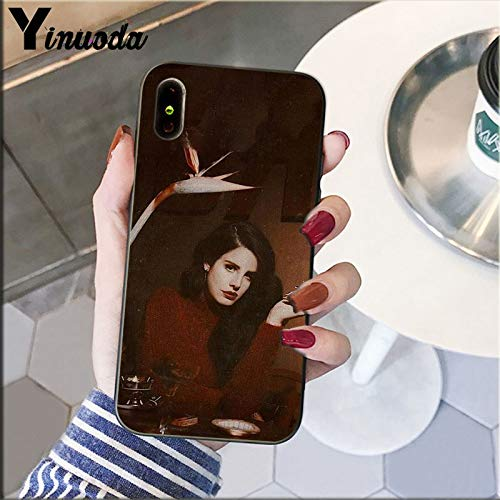 Inspired by Lana Del Rey Phone Case Compatible With Iphone 7 XR 6s Plus 6 X 8 9 Cases XS Max Clear Iphones Cases TPU- Remix- Poster- Hits- Hat- Hat- 33000788553