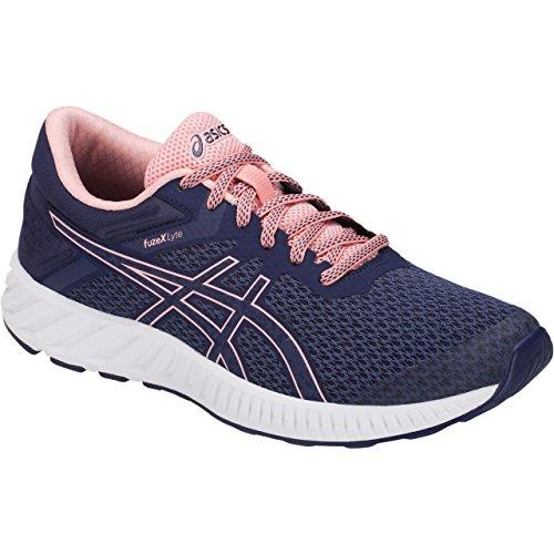 6 Stability Shoe Control Running - ASICS T769N Women's FuzeX Lyte 2 Running Shoe, Indigo Blue/Frosted Rose - 6 B(M) US