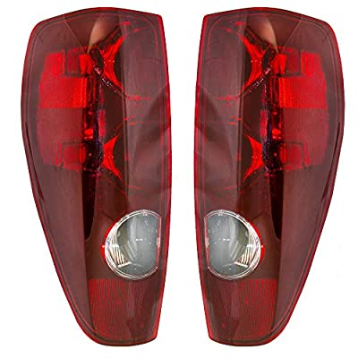 Aftermarket Replacement Driver and Passenger Set Tail Lights Compatible with 04-12 Colorado Canyon Pickup Truck 20825943 20825942: Automotive