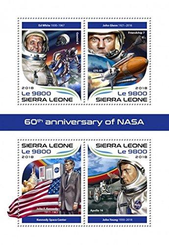 2018 NASA Anniversary - 4 Stamp Sheet - SRL18318a ()