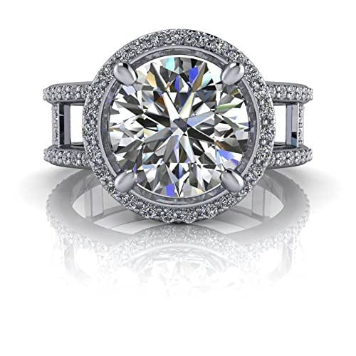 Amazon.com: Diamond Halo Engagement Ring